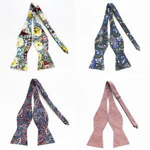 العلاقات GUSLESON العلامة التجارية الجديدة القطن الرجال الذاتي التعادل القوس التعادل ربطة الزهور للرجال Noeud بابيلون الزفاف الأعمال متعدد الألوان