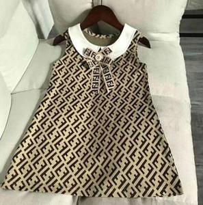 حار بيع الطفل بنات مصمم إلكتروني الأطفال اللباس طباعة الملابس ربطة العنق لطيف طفل الاطفال أكمام اللباس بالنسبة للفتاة الملابس Vestidos