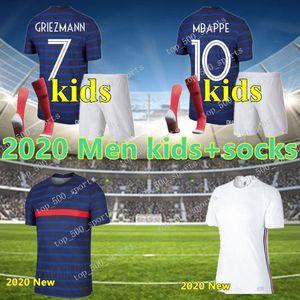 كيت الرجال + الاطفال 2020 فرنسا جيرسي مايوه دي القدم فرنسا الشقي 2 نجمة GRIEZMANN MBAPPE POGBA لغة كرة القدم الفرنسية لكرة القدم الفانيلة بنين