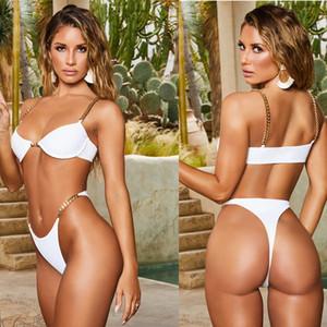 Bikini sexy costume da bagno donna vita alta Bikini Push Up Costume da bagno brasiliano Biquini costume da bagno Solid Female Body S-XL