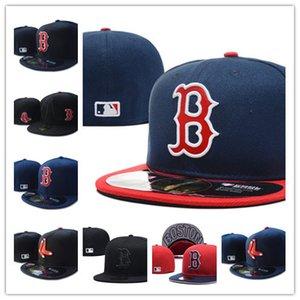 Bonne Vente New Boston Couleur Rouge Noir Aménagée Chapeau plat brodé fermé Caps Chapeu Hip Hop design