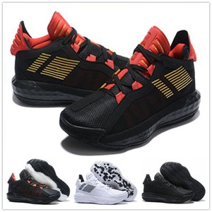 En iyi kalite Erkek Ayakkabı Siyah Kırmızı Beyaz Spor Spor ayakkabılar Eğitmenler Boyutu 40-46 için 2020 Yeni Damian Lillard VI Dame 6 Spor Basketbol Ayakkabıları