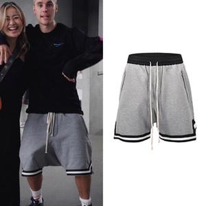 Nero Grigio Justin Bieber urbano Streetwear cavallo basso Shorts Side Zipper Estate alla moda Jogger shorts con coulisse Maschio