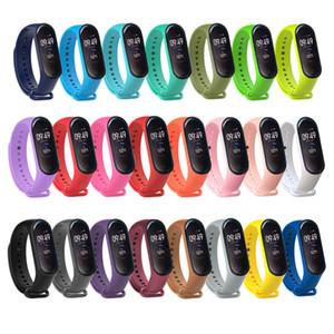 Cinturino in silicone per Xiaomi Mi Band 3 4 Sostituzione del cinturino cinturino da polso per Miband 3 4 Bracciale 23 colori