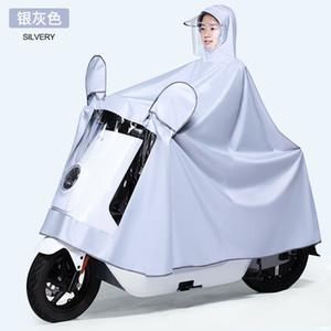 Chaqueta impermeable blanco impermeable transparente de la motocicleta general del impermeable de plástico elegante clara Regenjacke jinete de Rainsuit