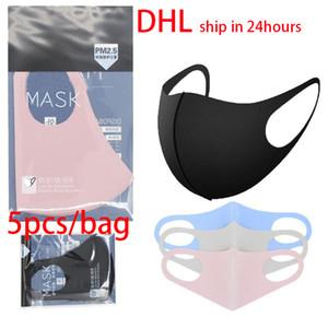 DHL черный розовый синий лицо партии Маска анти пыль туман рот маски пыленепроницаемый дышащий моющийся предотвратить распространение капель boom2017