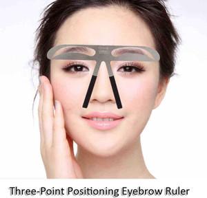 8 Stil Dreipunktpositionierung Augenbrauenbalance Lineal Semi-Permanent Tattoo Supplies Soor Artefakt Augenbrauen Werkzeug 2020