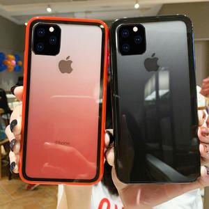 Для iPhone 11 Pro Max Акриловая Gradient Четкие телефон дела Радуга задняя крышка Прозрачный протектор для Apple, X XR XS Max 6 6s 6plus 7 8 8Plus