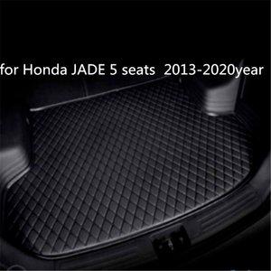 Пользовательские противоскольжения кожа автомобиль коврик багажного отделения коврик подходящие для Honda JADE 5 мест 2013-2020year автомобиль противоскольжения коврик