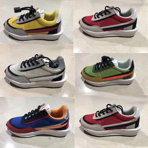 Sacai LDV Waffle Daybreak chaussures de course pour enfants GREEN GUSTO bleu marine pour enfants sport enfant en bas âge athlétique garçon filles baskets PINE GREEN