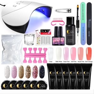 COSCELIA Manicure Set For Nail Kit 36W UV Lamp Dryer Nail Set Gel Polish Builder Gel Extending Poly With UV