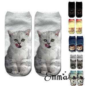 As meninas das mulheres bonito de Kawaii Adorável Zoo Animal dos desenhos animados 3D Socks Ladies algodão macia e quente Harajuku Sox engraçado calcetines mujer
