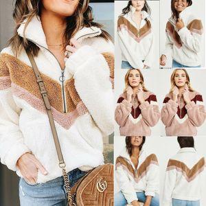 Hirigin Kadınlar Sıcak Oyuncak Ayı Fleece Dış Giyim Palto Jumper Top Kazak Bluz Kazak