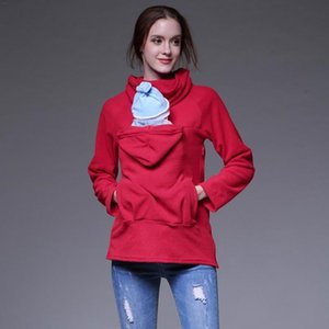 Maternity Autumn And Winter Multi-Functional Mother Kangaroo Sweater Coat Child Care Sweater Pullovers Tops Clothes
