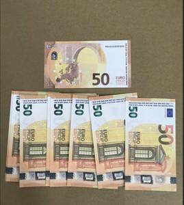 도매 가장 현실적인 소품 돈 인조 빌렛 10 20 50 100 유로 가짜 영화 돈 빌렛 유로 20 돈을 플레이