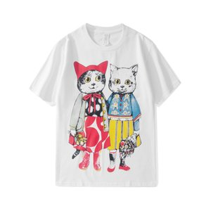 Dear2019 Gelgit Giymek Yaz Marka Karikatür Kitty Severler Erkekler Ve Kadınlar Nötr Kolay Bf Rüzgar Kısa Kollu T Yazık