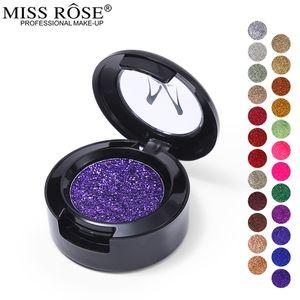 Miss Rose Pressed Glitter Eyeshadow Palette لوحة أحادية اللون ميتاليك راينبو دايموند لوحة مكياج ظلال العيون