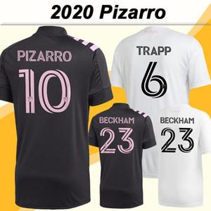 2020 Inter Miami CF BECKHAM Mens Soccer Jerseys New PIZARRO PELLEGRINI TRAPP Home White Away Black Football Shirt Short Sleeve Uniforms
