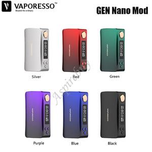 Vaporesso GEN NANO 80W TC Mod 2000mAh costruito in batteria Notevole AXON Chip E-Cigarette Box Vape Mod VS LUXE S / drag X autentica