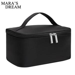 Mara rüyası Kadın Kozmetik Kutuları Taşınabilir büyük kapasiteli düz renk Naylon Kadın çantası rahat basit el saklama çantası