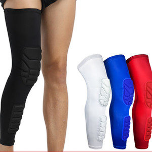 Rodilla 1pc cubierta del cojín de protección de manga larga transpirable Protector de pierna aptitud al aire libre Baloncesto Accesorios Ropa de deporte