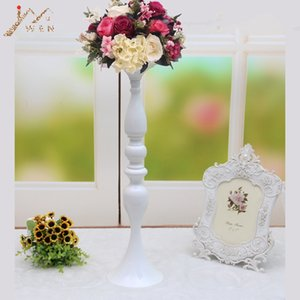 50cm 20\ White Metal Candle Holders Candle Stick Wedding Centerpiece Event Road Lead Flower Stands Rack Home Vase 10 PCS   lot