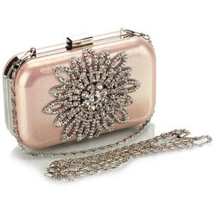 Flor de noche de cristal bolso de diseñador-monedero boda del partido del bolso de embrague floral bolsas de damas banquetes Mensajero Bolsa de hombro Diamante - S31