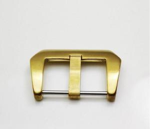 22mm 패션 좋은 품질의 황동 닦았 나사 당나라 버클 고무 가죽 밴드 스트랩 시계