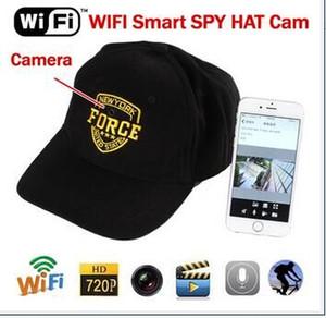 كاميرا يمكن ارتداؤها كاب WIFI كاميرا IP 720P HD هات المحمولة فيديو كاميرا مصغرة DVR Camcoder اللاسلكية شبكة لبس كاب IP P2P
