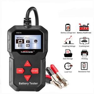 KONNWEI KW210 automatische intelligente Auto-12V-Batterie-Tester Auto-Batterie-Analysator 100 bis 2000CCA Cranking Car Battery-Tester