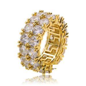Selfdesign Хип-хоп кубический циркон камень кольцо Шинни высокое качество Hiphop Рэппер циркон кольцо для мужчин медный духовой материал хип-хоп ювелирных изделий