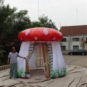 Levou Tent Publicidade inflável gigante balão de cogumelo com Blower e LED Luz Para Nightclub Decoartion Ou decoração do casamento