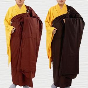unisex de alta qualidade zen budista leigo meditação batina monge Shaolin Kesa roupas buda mestre da veste ternos bênção