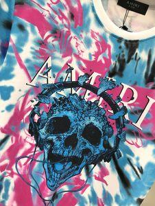 Europe et en Amérique marque de marée à manches courtes T-shirt Amiri AMIRI 2020 SS AMIRI colorée marée T-shirt tie-dye occasionnel vendeur Te Hotest