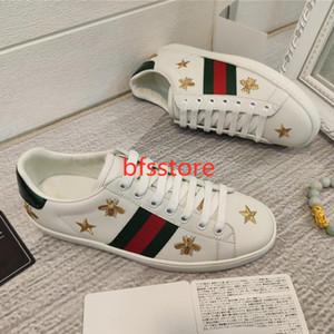 Gucci Little Bee Hococal Ace zapatilla de deporte zapatos de diseño de lujo de zapatos zapatillas de deporte de los hombres de las mujeres ocasionales de la manera más