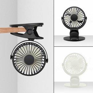 휴대용 3 스피드 클립 미니 충전식 USB 배터리 데스크 팬 여름 작은 360 ° 공기 냉각기 테이블 탑 자동차 오피스 홈