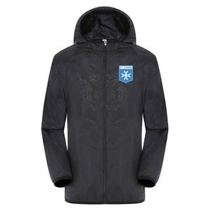 2020 AJ Auxerre estate nuovo per gli uomini e le donne protezione solare abbigliamento ultra-sottile elastica giacca a vento impermeabile Giacche permeabile all'aria Uomo