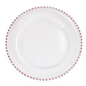 Herramientas bolas 32cm redondo plateado platos placas de vidrio transparente occidental Alimentos relleno Placa boda decoración de la tabla de cocina 3colors GGA3205