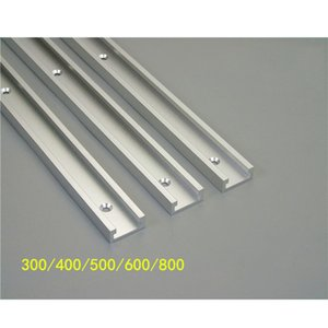 Miter Track Stop Aluminium Alloy T-tracks Slot Miter Track Jig Fixture for Router Table T-Slot 300 400 500 600 800mm DIY Tools