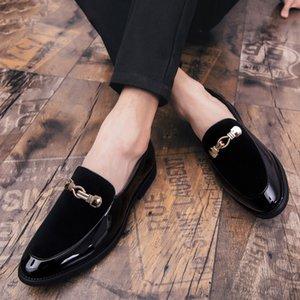 Party Shoes For Men Dress fannulloni Coiffeur Scarpe da cerimonia uomo elegante Italian Shoes Uomini Wedding Sepatu scivolare su Pria