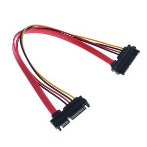 30CM Erkek için Bayan SATA Veri Power Uzatma Kablosu E / K 22P 7 + 15pin
