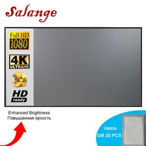 Pantallas de proyección Proyector Simple Cortina Anti-Light Screen 60 72 84 100 120 pulgadas Inicio Oficina al aire libre Portátil 3D HD Proyector Pantalla