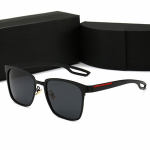 Gafas de sol de marca de lujo para hombres y mujeres Gafas de sol ovaladas de moda Protección UV Lente polarizada Recubrimiento Lente Espejo con caja y estuche al por menor