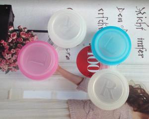 Бесплатная доставка Красочный Контактные линзы Case Dual Box Двойной чехол объектива Замачивание Case