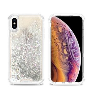 For Motorola G7 Power Play Supra E6 E5 Plus Cruise Play Alcatel 1X Evolve Liquid Quicksand Water Glitter Bling Floating Colorful Triple Case