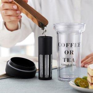Thé Filtre 14 oz bouteille en plastique café ou thé Bouteille d'eau avec le thé Filtre Infuser Bouteille extérieure Bouteilles d'eau portable