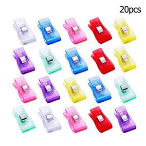 20 / 50pcs clipes Multi-Cor acolchoado dos retalhos de costura Photo Plastic Hemming Clipe Kit