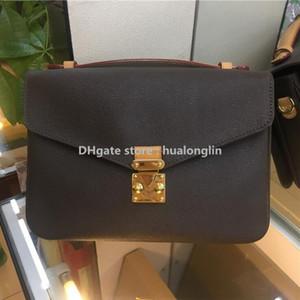 Hochwertige Tasche Handtasche Frauen Verkauf Rabatt Echtes Leder Match Muster Datum Code Seriennummer Schulter Damier Letters Plaid