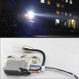 1SET 12V 35W DC MOTOR HID KIT H6M BA20D دراجة نارية HID مصابيح Bi-Xenon ضوء HEADLIGHT 6000K 8000K 43000K 12000K زينون