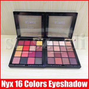 NYX Конечная палитра теней NYXUltimate Shadow Palette Omber 16 цветов Разминка тень Нейтральных Phoenix Матовый Shinny глаз